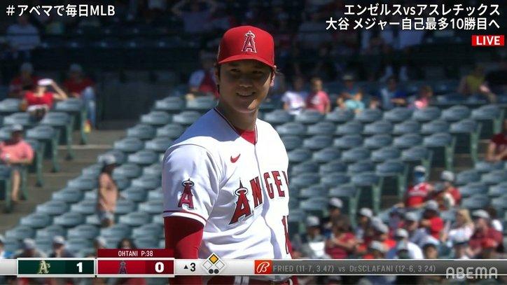 「やりたかった?ごめんね」大谷翔平、笑顔の申告敬遠 相手打者もニコニコにファン「楽しんでるな」「表情いいね」