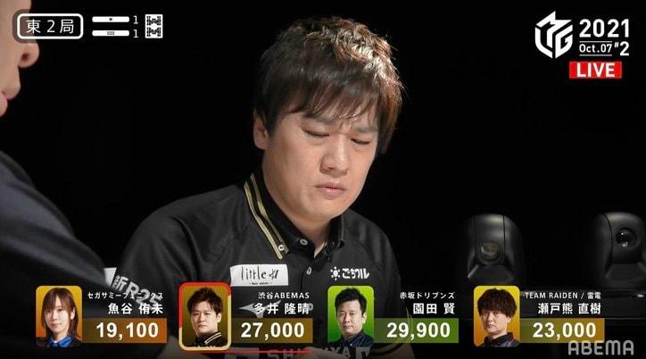 「それ、どうゆうこと…?」最速最強・多井隆晴の困惑顔が話題に「おこはる」「顔含めて芸術点高い」/麻雀・Mリーグ