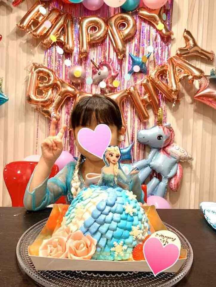 飯田圭織、オーダーメイドした娘の誕生日ケーキを公開「娘の希望を伝えてデザイン」